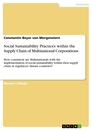 Title: Social Sustainability Practices within the Supply Chain of Multinational Corporations