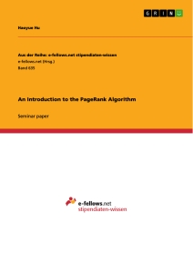 an introduction to the pagerank algorithm publish your master s  an introduction to the pagerank algorithm