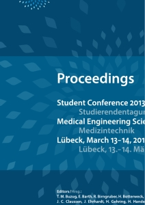 Title: Student Conference Medical Engineering Science 2013