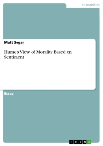 Title: Hume's View of Morality Based on Sentiment