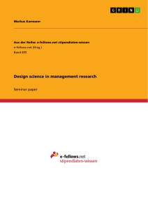 design science in management research publish your master s  title design science in management research