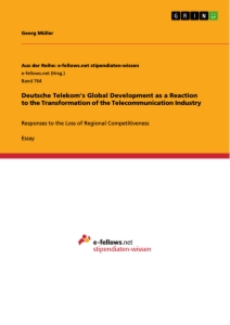 Title: Deutsche Telekom's Global Development as a Reaction to the Transformation of the Telecommunication Industry