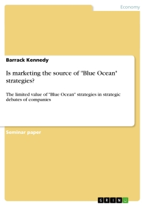 "Title: Is marketing the source of ""Blue Ocean"" strategies?"