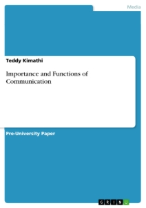 Importance And Functions Of Communication  Publish Your Masters  Importance And Functions Of Communication