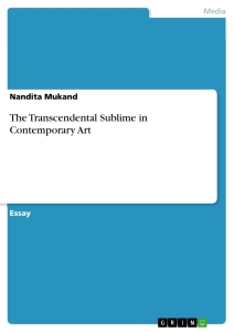 the transcendental sublime in contemporary art publish your  title the transcendental sublime in contemporary art
