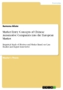 Title: Market Entry Concepts of Chinese Automotive Companies into the European Market