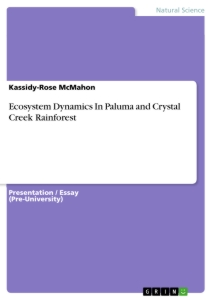 Title: Ecosystem Dynamics In Paluma and Crystal Creek Rainforest