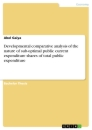 Title: Developmental comparative analysis of the nature of sub-optimal public current expenditure shares of total public expenditure