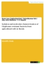 Title: Isolation and molecular characterization of Glyphosate resistant bacteria from agricultural soils in Kerala