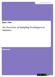 Title: An Overview of Sampling Techniques in Statistics
