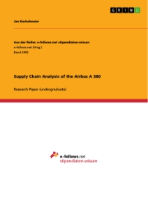 Title: Supply Chain Analysis of the Airbus A 380
