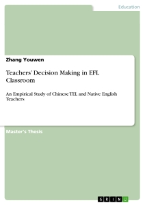 teachers decision making in efl classroom publish your master s  teachers decision making in efl classroom