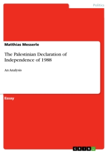 Title: The Palestinian Declaration of Independence of 1988