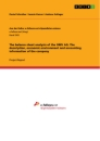 Title: The balance sheet analysis of the OMV AG. The description, economic environment and accounting information of the company