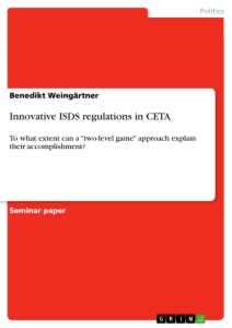 Title: Innovative ISDS regulations in CETA