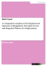 Title: A Comparative Analysis of the Employment Situation in Bangladesh. Potential Sectors and Required Policies for Employment