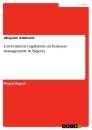 Title: Government regulation on business management in Nigeria