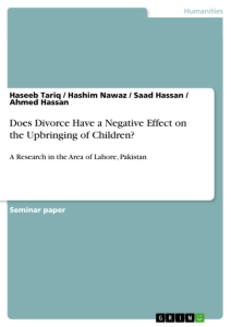 Title: Does Divorce Have a Negative Effect on the Upbringing of Children?