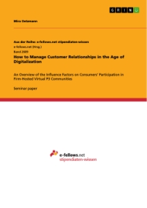 Title: How to Manage Customer Relationships in the Age of Digitalization