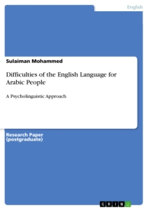 Title: Difficulties of the English Language for Arabic People