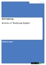 """Title: Reviews of """"Wuthering Heights"""""""
