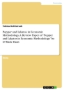 """Titel: Popper and Lakatos in Economic Methodology. A Review Paper of """"Popper and Lakatos in Economic Methodology"""" by D. Wade Hans"""