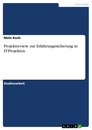 Title: Projektreview zur Erfahrungssicherung in IT-Projekten