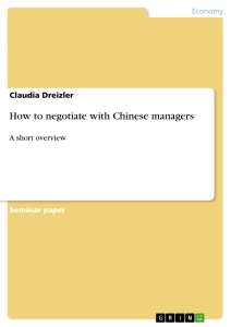Title: How to negotiate with Chinese managers
