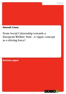 Title: From Social Citizenship towards a European Welfare State - A vague concept as a driving force?
