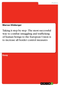 Title: Taking it step by step - The most successful way to combat smuggling and trafficking of human beings to the European Union is to increase all border control measures