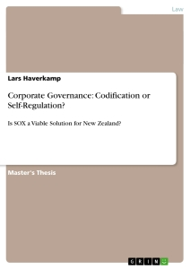 corporate governance codification or self regulation publish  corporate governance codification or self regulation