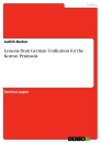 Title: Lessons from German Unification for the Korean Peninsula