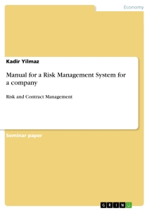 Titel: Manual for a Risk Management System for a company