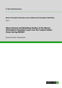 Titel: Observational and Modelling Studies of the Marine Atmospheric Boundary Layer over the Tropical Indian Ocean during INDOEX