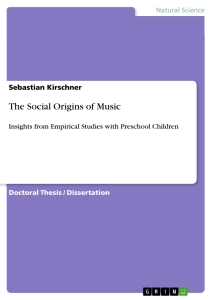 Titel: The Social Origins of Music