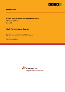 Titel: High Performance Teams