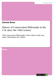 Titel: History of Conservation Philosophy in the U.K. since the 19th Century