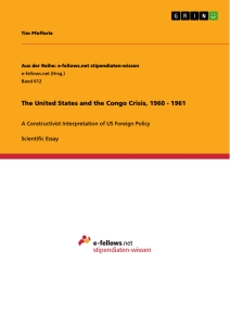 Titel: The United States and the Congo Crisis, 1960 - 1961