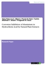 Titel: Corrosion Inhibition of Aluminium in Hydrochloric Acid by Natural Plant Extracts
