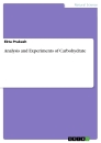 Titel: Analysis and Experiments of Carbohydrate