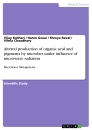 Titel: Altered production of organic acid and pigments by microbes under influence of microwave radiation