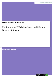 Titel: Preference of CFAD Students on Different Brands of Shoes