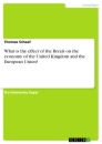 Titel: What is the effect of the Brexit on the economy of the United Kingdom and the European Union?