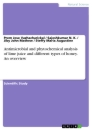 Titel: Antimicrobial and phytochemical analysis of lime juice and different types of honey. An overview
