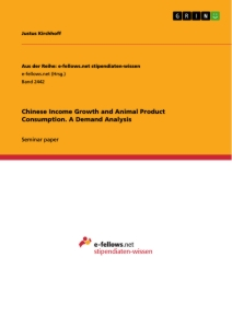 Titel: Chinese Income Growth and Animal Product Consumption. A Demand Analysis