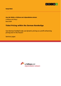 Titel: Ticket Pricing within the German Bundesliga