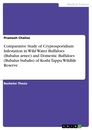 Titel: Comparative Study of Cryptosporidium Infestation  in Wild Water Buffaloes (Bubalus arnee) and  Domestic Buffaloes (Bubalus bubalis) of  Koshi Tappu Wildlife Reserve