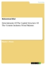 Titel: Determinants Of The Capital Structure Of The Cement Industry From Pakistan