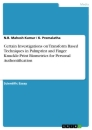 Titel: Certain Investigations on Transform Based Techniques in Palmprint and Finger Knuckle-Print Biometrics for Personal Authentification